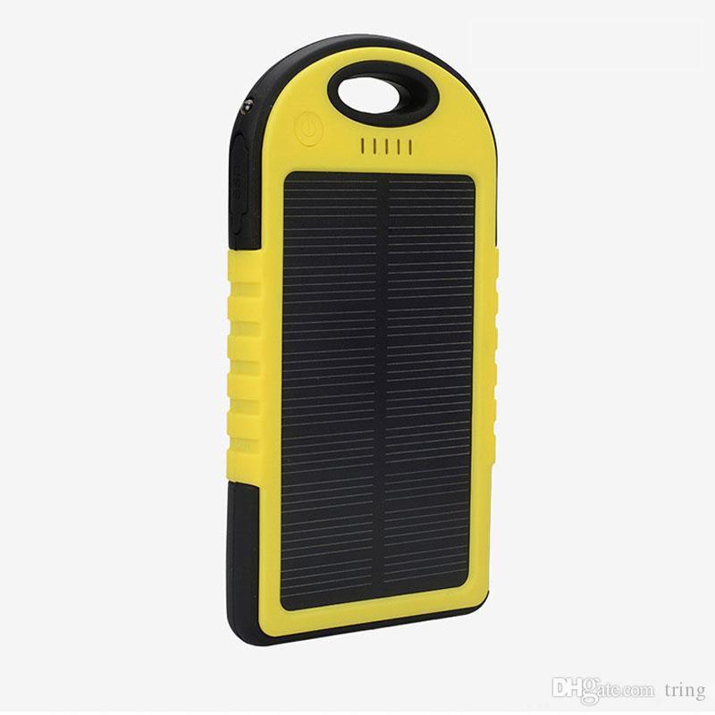 태양열 충전기 5000Mah 에너지 태양 전지 패널 충전기 아이폰 삼성 휴대폰을위한 휴대 전화 충전기 다기능 비상 충전기