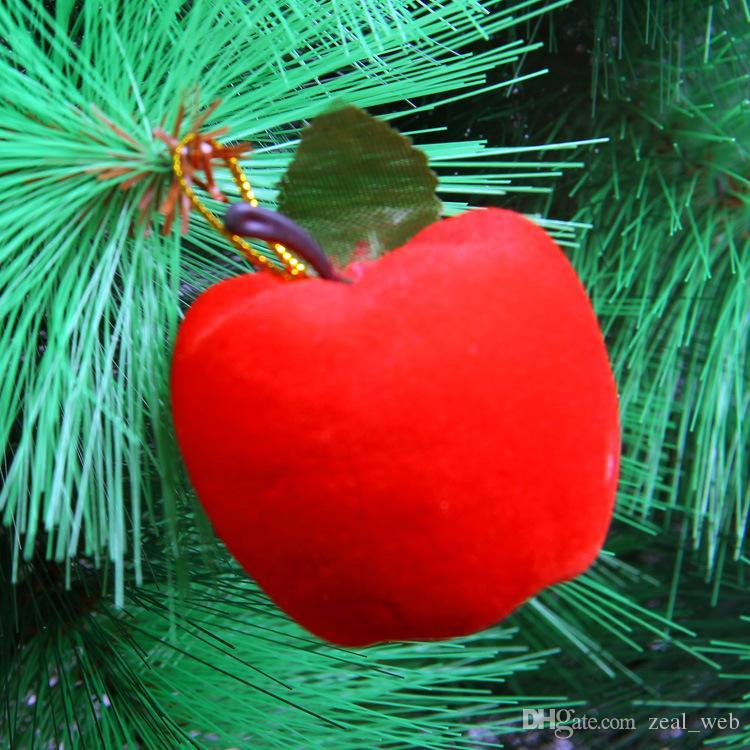 albero di natale decorazioni di natale di Apple bagattelle ornamenti di nozze del partito oro rosso Decor rosso più economico !!! cy