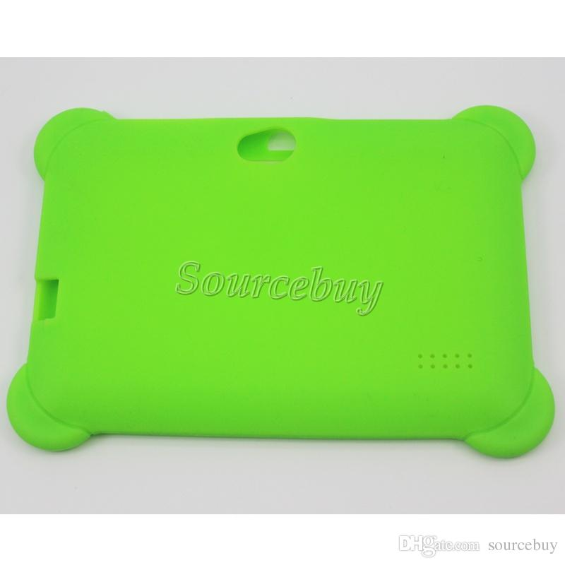 Drop resistance Anti-Dust Kids Child Soft Silicone Rubber Gel Case Cover For Q88 Q8 A33 7 Inch Android Tablet PC Kids Gifts