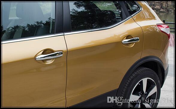Высокое качество ABS хром 8шт ручка двери отделка защитная крышка для Nissan Qashqai 2016 года
