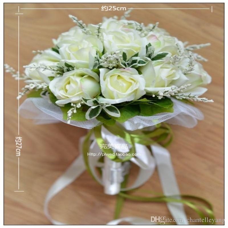 Bride Holding Flowers, New Arrival Romantic Wedding Bride's Bouquet,White Rose Bridal Bouquets Wedding Accessories 2016 High Quality Bouquet