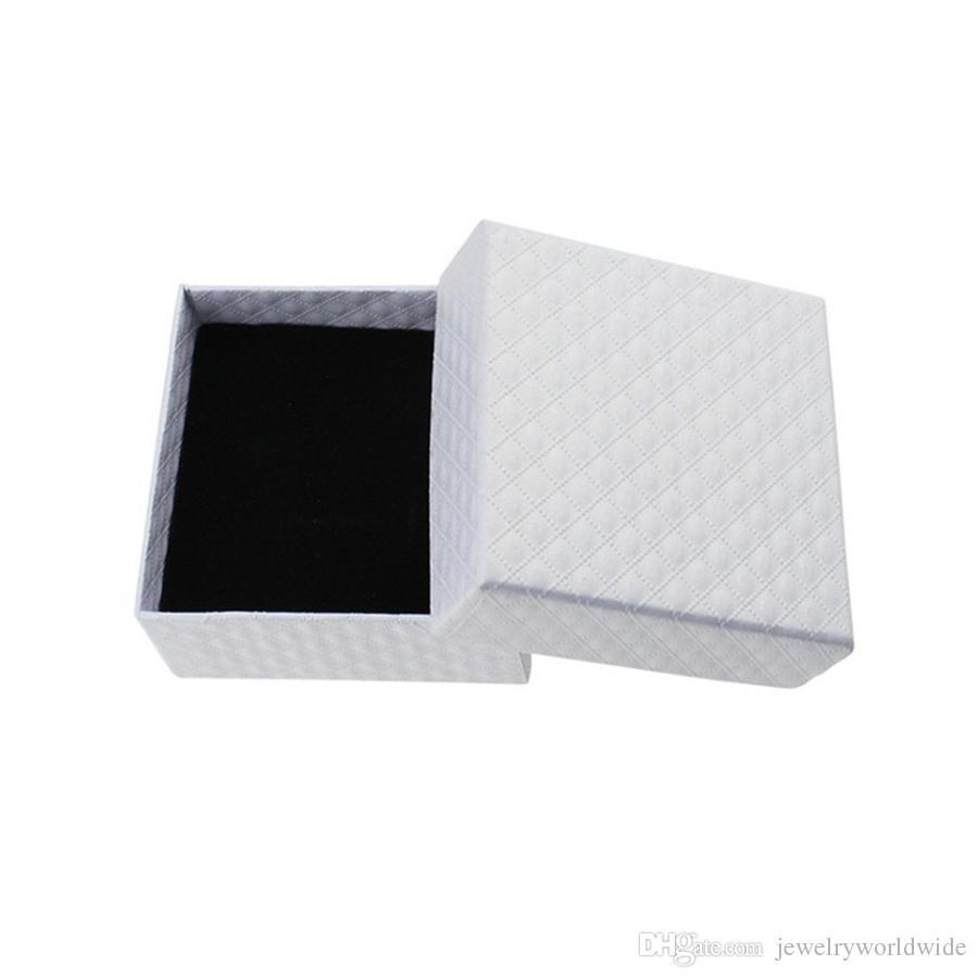 Diamant-Schmuckkästchen für Halsketten-Ohrring-Ring-hängende Schmuck-Verpackung und Anzeige 7.3X7.3X3.5CM