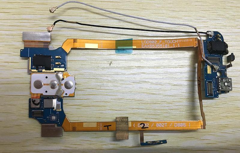 LG G2 D802 için Dock konnektörü şarj şarj portu USB flex kablo Kulaklık Jack Mikrofon Güç açma / kapama Düğmesi Ses