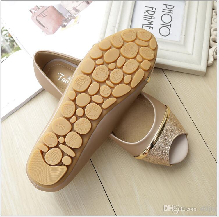 9e834b1633e10b Flat Comfortable Soft Bottom Fish Mouth Sandals Women Fashion Joker Non  Slip Peep Toe Shoes Big Yards For Women S Shoes 41 43 Shoe Sale Shoes Uk  From Sfdjhj ...