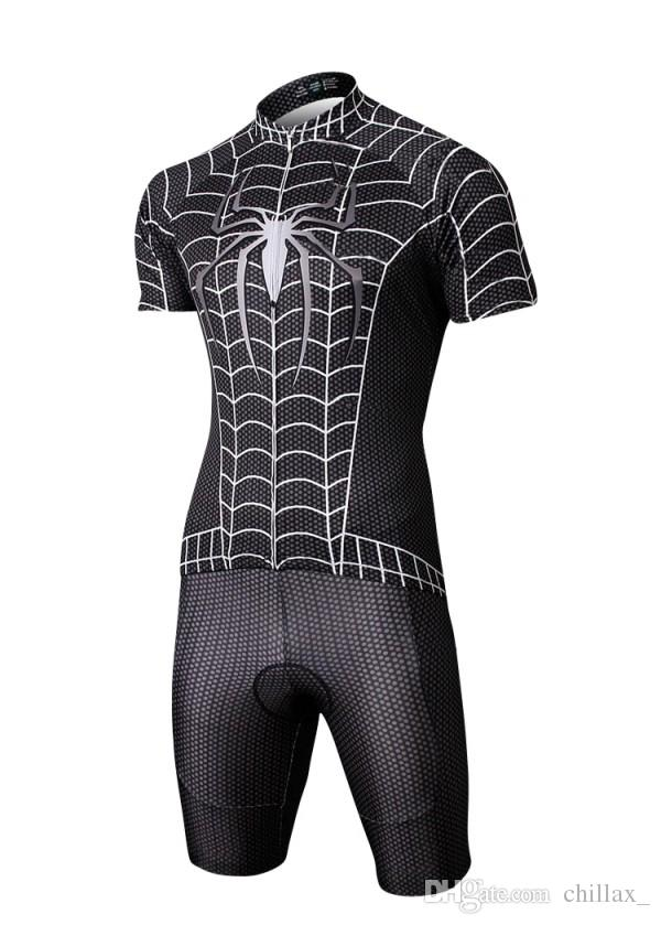 Wholesale Mens Cycling Jersey Sets Cheap Summer Bicycle Clothes Batman  Superman Iron Man Spider Man Captain America Cycling Bicycle Suit Bicycle  Pants ... 6625880d2