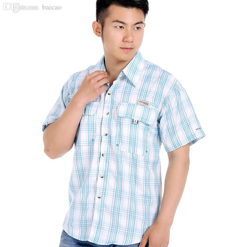 13867454b6 2019 Wholesale A Camisas De Hombre 2016 Nueva Primavera Verano Moda Chemise  Homme Para Hombre Camisas De Vestir De Manga Corta Para Hombre From Baicao