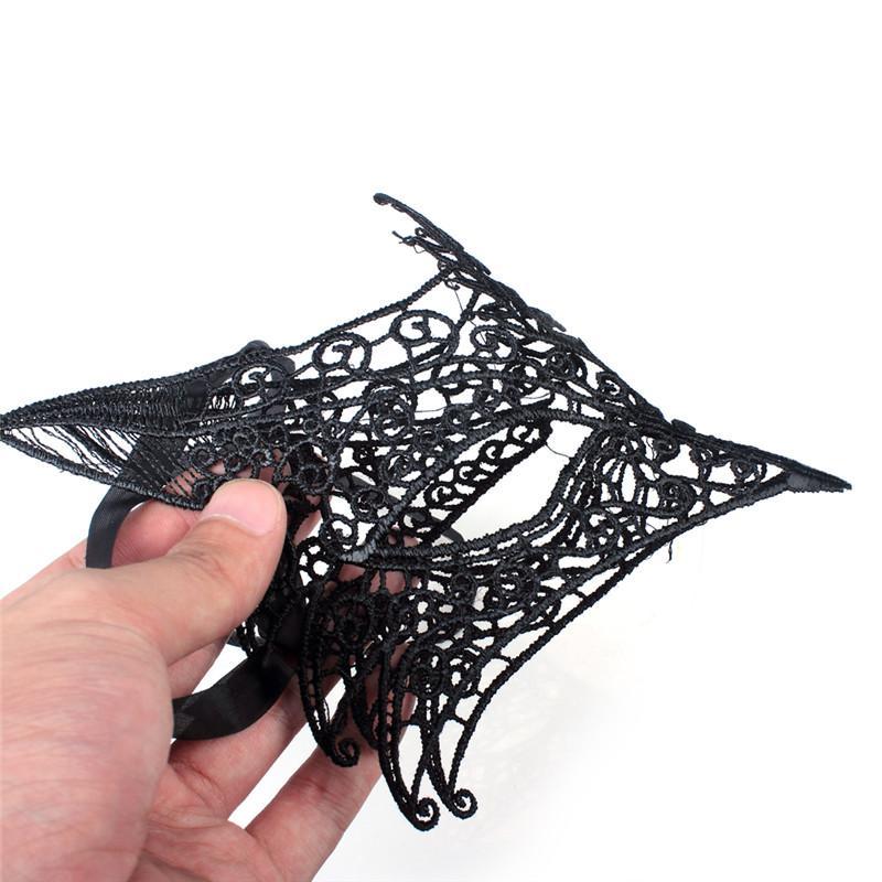 Zorro de Halloween máscaras de encaje de media cara mujeres señora sexy máscara de halloween traje de cosplay de navidad fiestas decoraciones de bodas