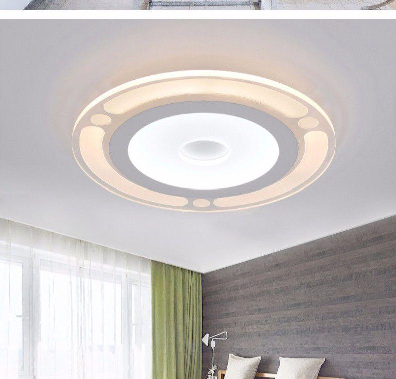 Regulable Minimalista Moderno Redondo Led Luz de Techo Acrílico Pantalla Techo Iluminación de la sala Luces Decorativas Lámpara de Cocina Lamparas