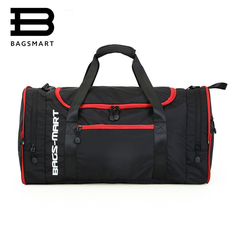 8cad2ded272 Wholesale- BAGSMART Multifunctional Travel Bags Large Capacity Waterproof  Nylon Travel Handbag Travel Bag Handbag Travel Bag Travel Online with   42.34 Piece ...