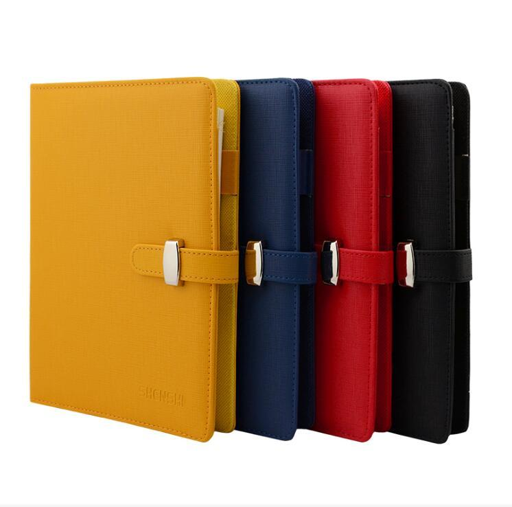 2018 Wholesale A5 Logo Name Customized Notebook Spiral Binder Metal Hasp  Red Black Journal Planner Office Supplies Student Prize Gift From Huayama,  ...