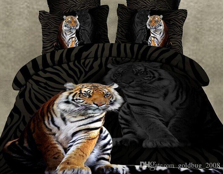 17 стиль волк тигр леопард лошадь 4 шт. Королева 3D бабочка цветы зеленый простыня пододеяльник наволочка набор DC001