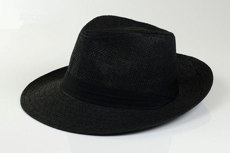 2016 New arrival Wide Brim Sun Hats for Women Men Jazz Caps Panama Fedoras Unisex Beach Visor Hat Straw Cap Solid color