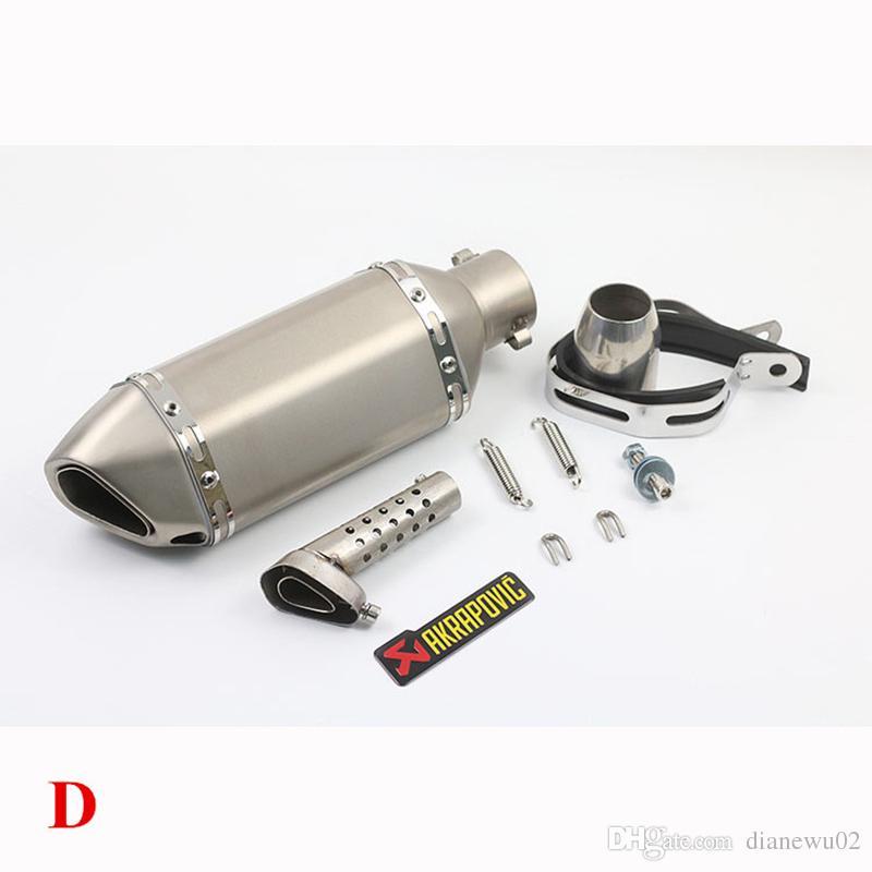 51 ملليمتر akrapovic المقاوم للصدأ العالمي للدراجات النارية العادم الخمار تنفيس الأنابيب كاتم الانزلاق على ث / ديسيبل القاتل صالح لمعظم دراجة نارية GSXR CBR