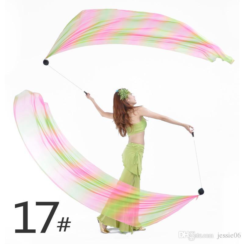 Véu de Dança do Ventre Poi = 1Veils + 1Poi Correntes Multicor 31 cores acessórios de dança do ventre dança do vent ...