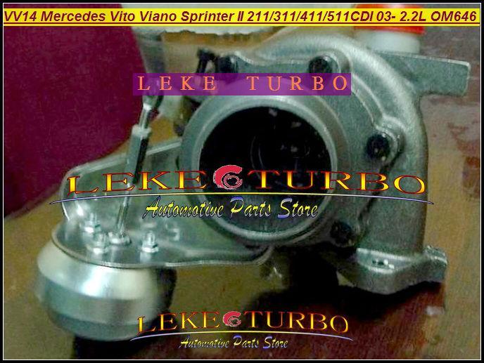 - VF40A132 Mercedes-PKW Sprinter II 311CDI 411CDI 511CDI 2003-09 2.2L OM646 DE22LA VV14 A6460960199 turbocharger (3)