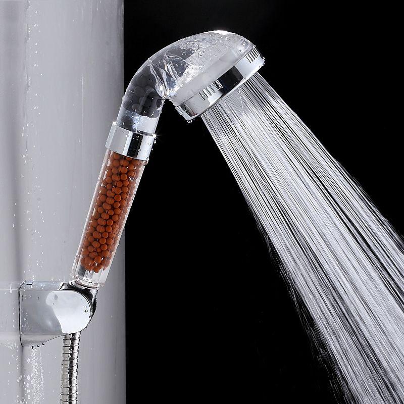 handheld watersaving bath shower nozzle sprinkler sprayer filter transparent hand shower head rainful shower head showerhead - Filtered Shower Head