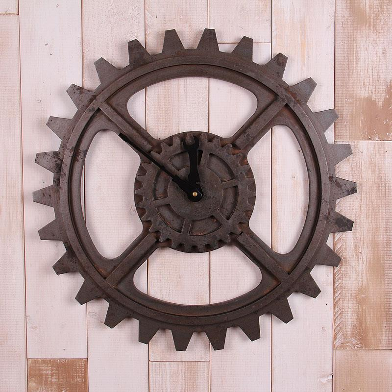 Loft Industrial Gear Exquisite Decoration Concept Wind Wall Clock