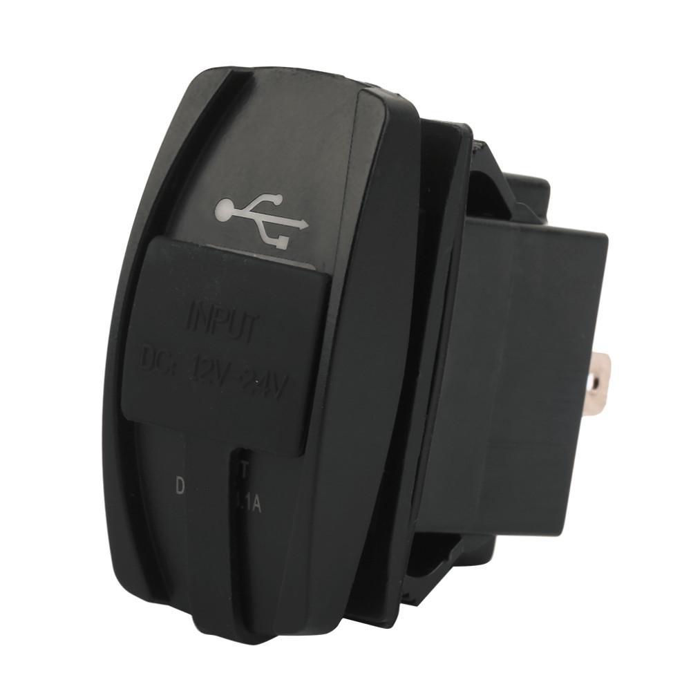 DC 듀얼 USB 차량용 충전기 Carling ARB 로커 스위치 5V 3.1A 범용 12 - 24V 자동차, 오토바이, 전기 자동차, 다목적 차량, 보트