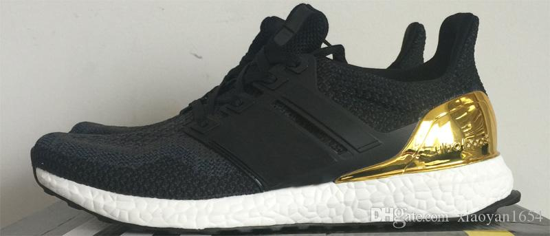 847306ff9305b Ultra Boost Olympic Black Gold BB3929 KID Running Shoes Size 40 44 Kids  White Athletic Shoes Trail Shoes Kids From Xiaoyan1654