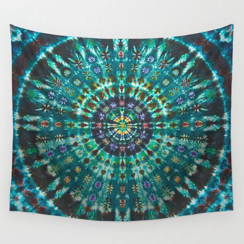 Acheter Indien Mandala Tapisserie Coloré Bohème Mur Tapis Ethnique