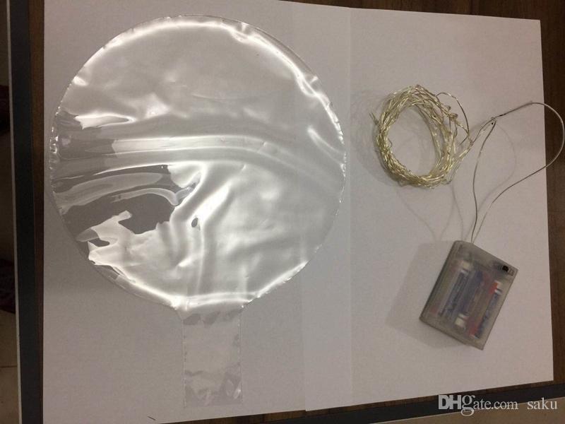 2020 Sıcak Aydınlık Led Şeffaf 3 Metre Balon Yanıp sönen Düğün Süslemeleri Tatil Renk Parlak Balonlar Daima Bright Malzemeleri