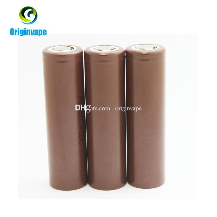 100% Authentic 18650 Battery HG2 3000mAh 35A MAX Lithium Rechargeable Batteries Using LG Battery Cell For VW Box Mod Fedex