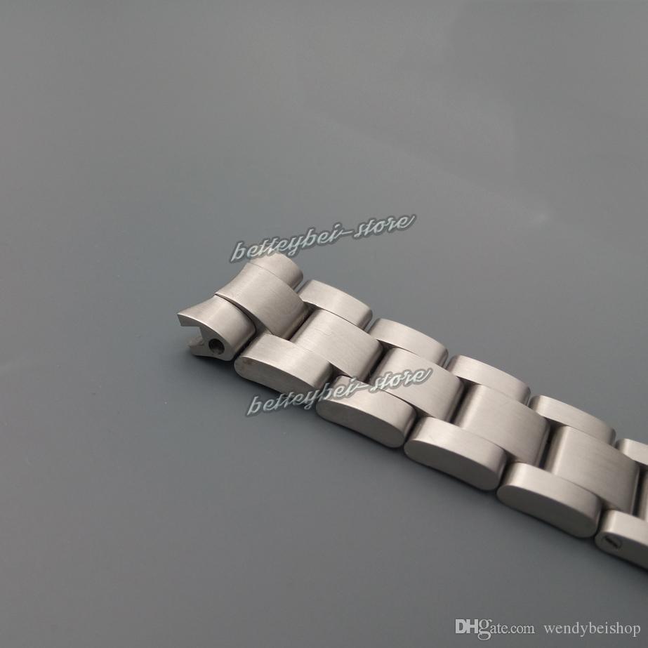 20mm Nuovo argento all'ingrosso spazzolato bracciale cinturino in acciaio inox curvo fine cinturino orologio