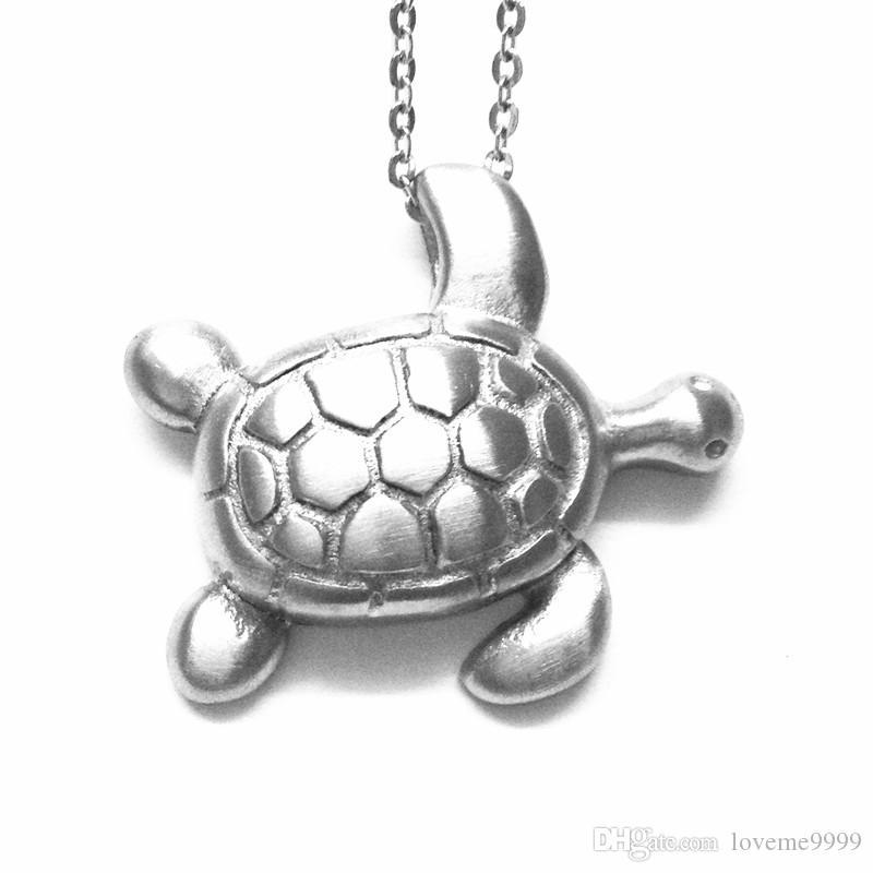 Высокое качество любовь openable 316L кремация нержавеющей стали животных черепаха кулон Мемориал домашние животные Ясень урны медальоны подвески ожерелье ювелирные изделия