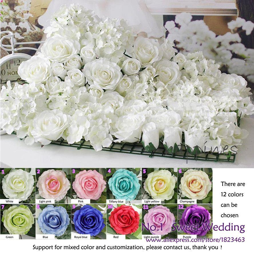 Discount artificial rose and hydrangea flower wall for wedding discount artificial rose and hydrangea flower wall for wedding backdrop or lawnpillar road lead decoration from china dhgate izmirmasajfo