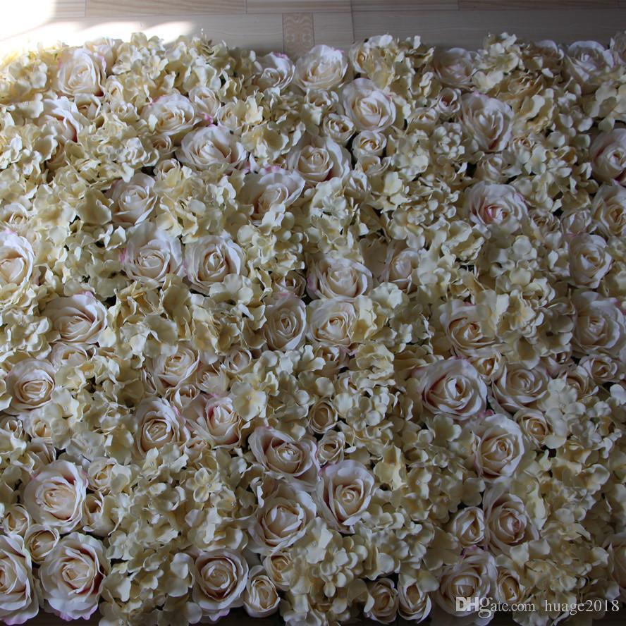 Blumen-Wandrasen / -pfosten der EMS-freien Shipping-/ Champagner künstlichen silk rosafarbene, die Hintergrund-Straßenblei-Marktdekoration heiraten