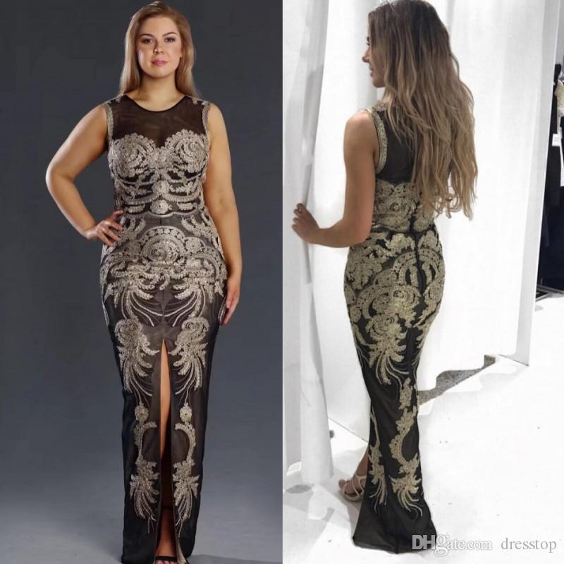 Plus Size Jewel Neck Dress