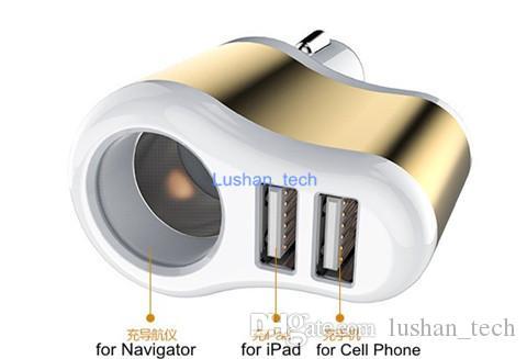Birlikte Araç Navigator Şarj Girişi DC12-24V / Çıkış DC 5V 3.1A ile Çift USB Şarj Cihazı