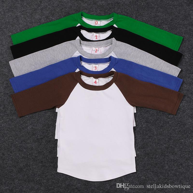 3f0a59c5 Wholesale Fall Round Neck Knit Cotton Boy Tshirt Icing Raglan Baby ...
