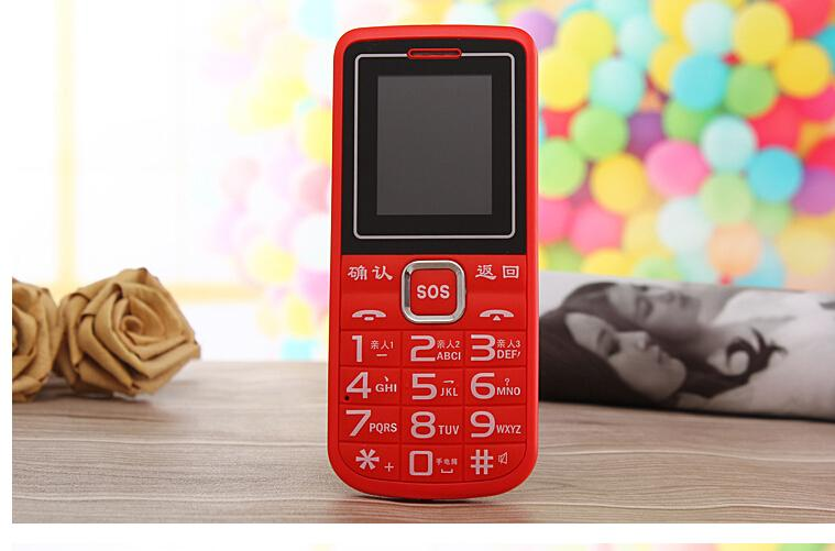 Cheap mobile phones through A999 caring flashlight characters big sound big button elderly mobile phone handset selling gift