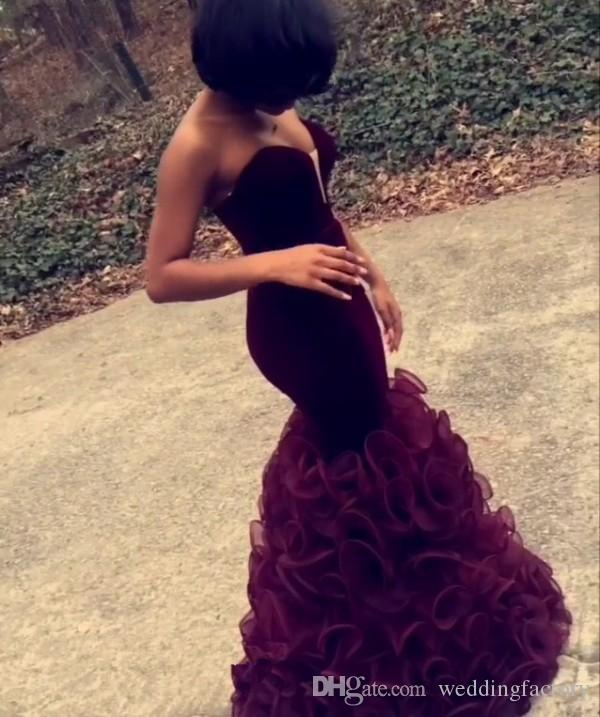 Elegant Grape Purple Burgundy Mermaid Prom Dresses Fit and Flare Long Floor Length Evening Party Gowns Sweetheart Neck Sleeveless