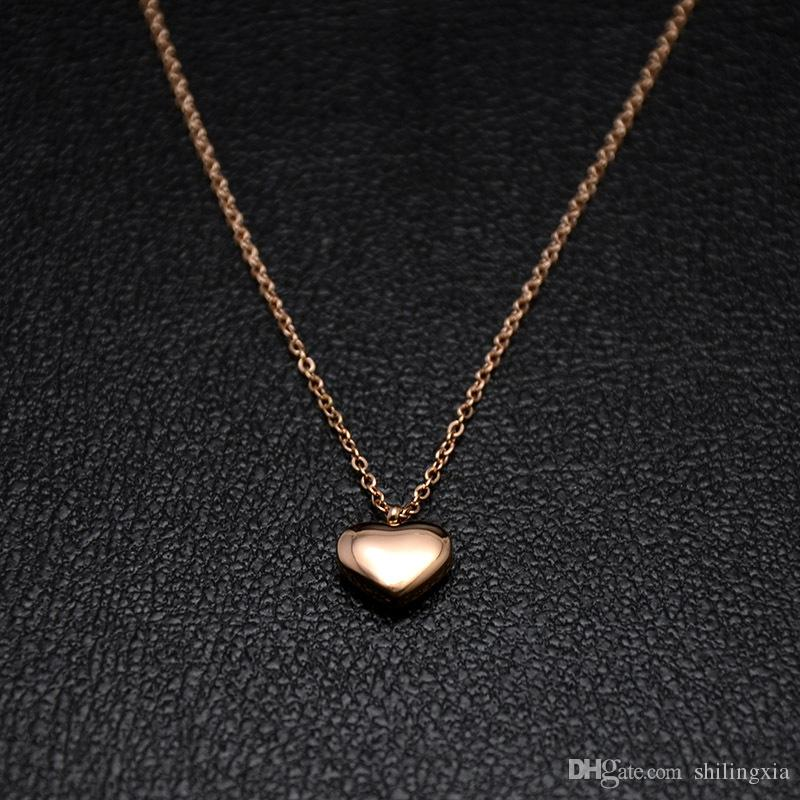 Wholesale 2017 new tiny heart necklace for women long chain heart wholesale 2017 new tiny heart necklace for women long chain heart shape pendant necklace gift ethnic bohemian choker necklace butterfly pendant necklace mozeypictures Images