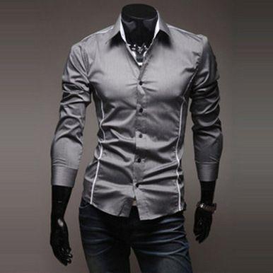8fe86fe97 2019 2017 Mens Fashion Luxury Stylish Casual Designer Dress Shirt Muscle  Fit Shirts 5 Sizes From Li1739503628, $12.13 | DHgate.Com