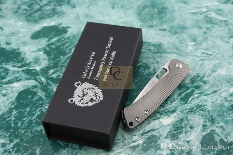 Italia Lion Steel TiSpine TC4 titanio cuchillo plegable D2 Gris caza táctica de supervivencia al aire libre cuchillos prácticos herramienta EDC
