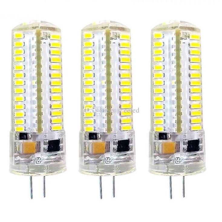 Energy-saving Crystal Bulb G4 104 LEDs 3014 SMD Silicone 360 Beam Angle Candle Lamp Bulb Crystal Chandelier Lighting 220V 110V Corn Bulb