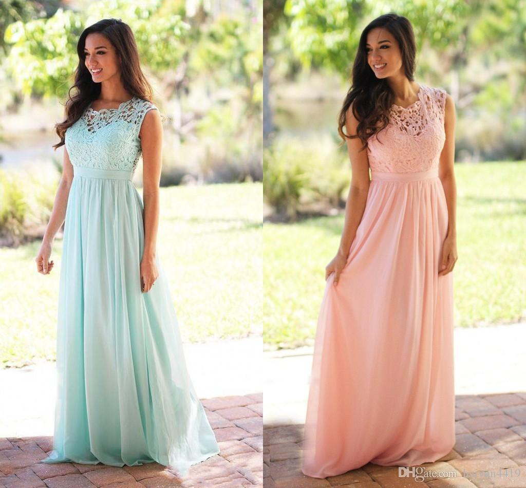 Discount Plus Size Colored Country Wedding Dresses Long: Bridesmaid Dresses 2017 Cheap Country Long For Weddings