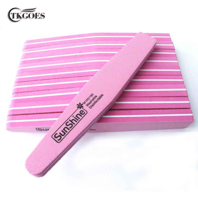 Wholesale- TKGOES Pink Nail Files Buffer Diamond Fancy Head Sanding ...