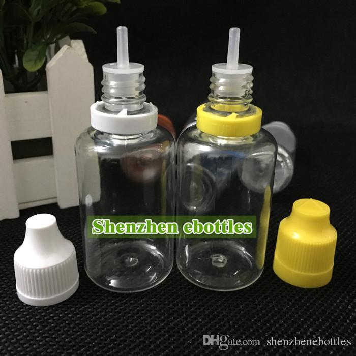 bottiglie di plastica di prezzi di fabbrica 30ml bottiglia vuota di plastica PET contagocce con lungo e sottile Consigli e Tamper Childproof tappi di bottiglia ago