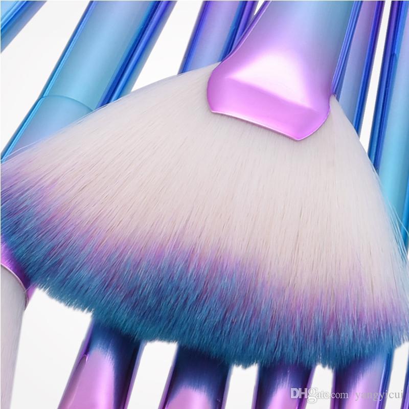 Makeup Brushes Set&Kit Big Fan Eye Shadow Eyebrow Nose Powder Concealer Blending Synthetic Hair Women Make Up Brush Tool