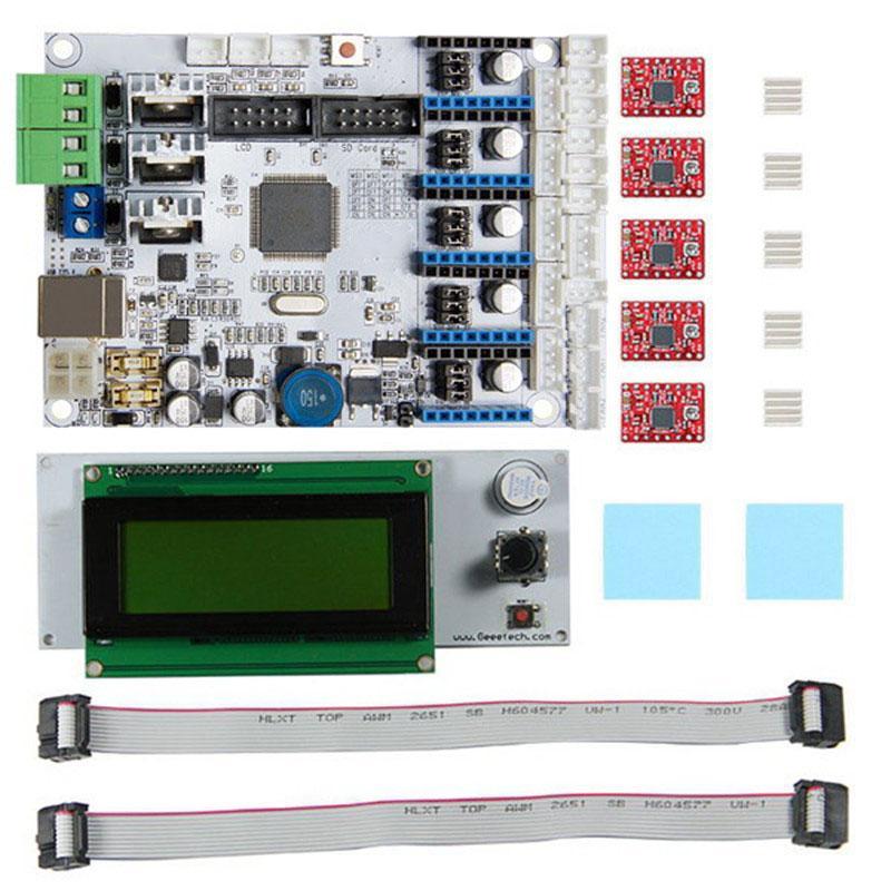 Freeshipping 3D carte mère imprimante GT2560 + A4988 Driver + LCD2004 Kit Taille compacte Connexion plus pratique