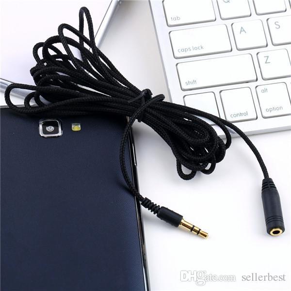 3 M 10ft 3.5mm Cabo de Extensão Do Fone de Ouvido Trançado Pano Fêmea para Macho F / M fone de Ouvido Cabo de Extensão de Áudio Estéreo Adaptador de Cabo para o Telefone PC MP3