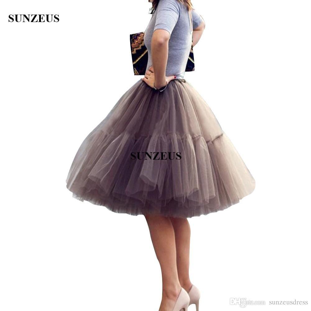 1950S Vintage Tule Anáguas Na Altura Do Joelho Saia Vestido de Noiva Acessórios Jupon Crinolina Saiote Crinolina Sottogonna Sposa