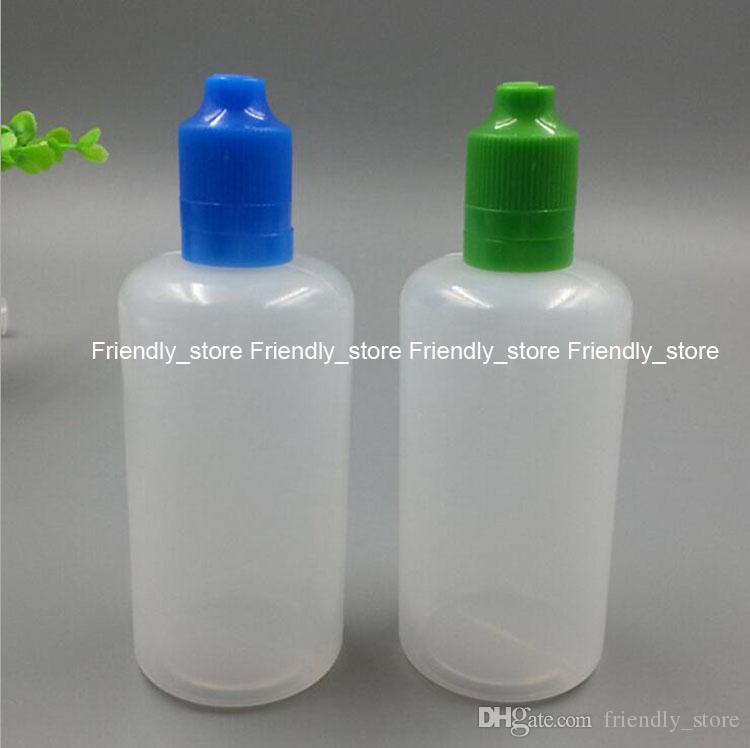 LDPE Plastic Bottles Wholesales 100ml empty e-cig liquid bottles With tamper evident cap and slim tips