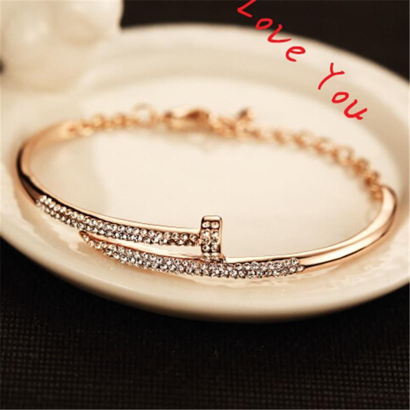 Novo estilo coreano marca luxo nova mulheres punk estilo pulseira high-end zircão charme pulseira moda pulseira jóias acessórios