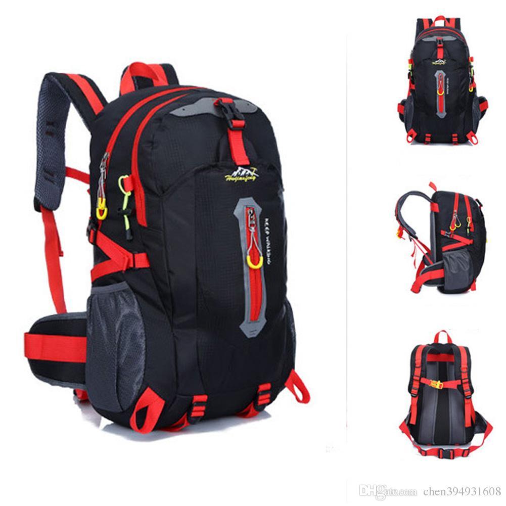 40L Impermeabile Nylon WomenMen Travel Backpack Zaino Campeggio Arrampicata Zaino Alpinismo Escursionismo Ciclismo Borsa sportiva all'aperto