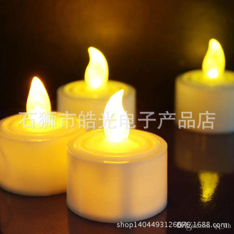 online cheap dhl free tea lights candles led lights flameless flicker tealight ficker yellow indoor wedding party birthday christmas decoration lighting by